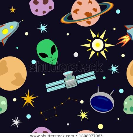 planète · satellite · étoiles · espace · illustration - photo stock © serebrov