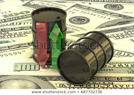 benzin · árak · felfelé · lefelé · szavak · renderelt - stock fotó © ottawaweb