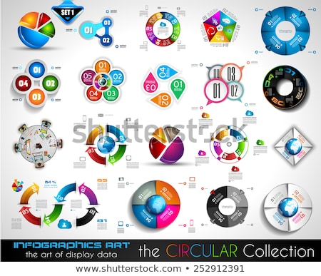 vector circular infographics big collection for your graphs stock photo © davidarts