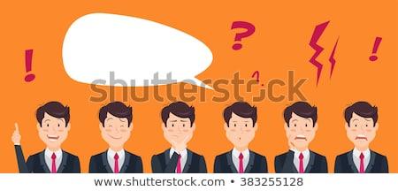 漫画 神経質な ビジネスマン 思考バブル 手 デザイン ストックフォト © lineartestpilot
