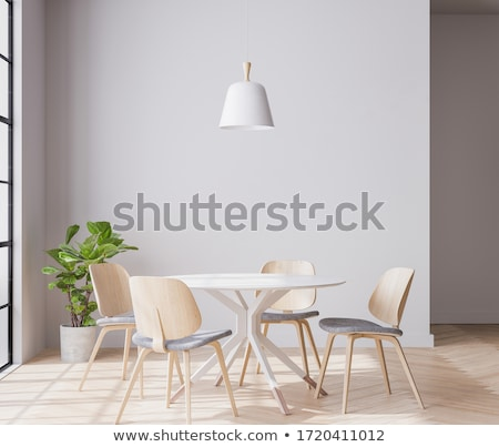 3D sala da pranzo moderno design interni Foto d'archivio © wxin