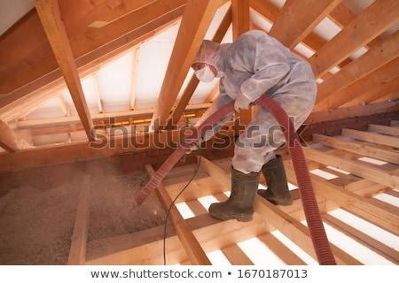 fal · szigetelés · háló · közelkép · horgony · ház - stock fotó © simazoran