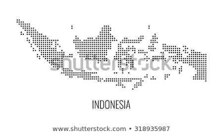 Map of Indonesia with Dot Pattern Stock photo © Istanbul2009