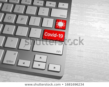 a keyboard with a red button   virus stock photo © zerbor