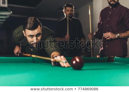 Játék biliárd illusztráció asztal medence csésze Stock fotó © adrenalina