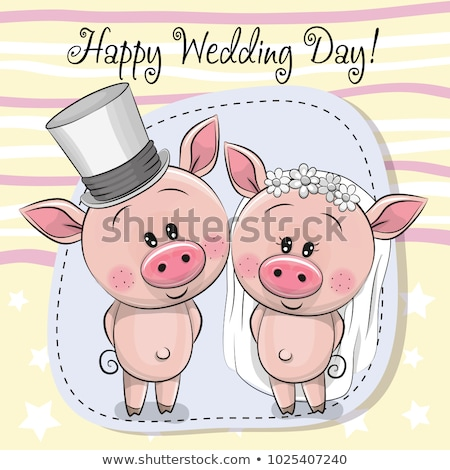 Pigs marry Stock photo © adrenalina