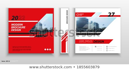 Irodai munka tér vektor piros ikon terv Stock fotó © rizwanali3d