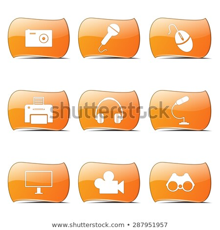 Elektronikus felszerlés narancs vektor terv szett Stock fotó © rizwanali3d
