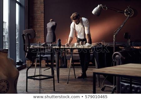 Сток-фото: мужчины · моде · дизайнера · манекен · вид · сбоку · стороны