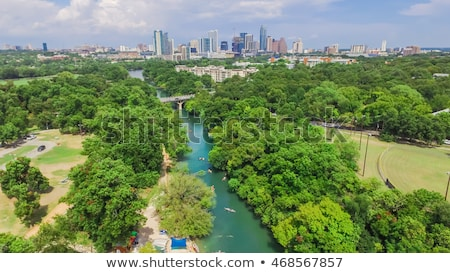 Centre-ville austin Texas Skyline vue parc Photo stock © cboswell