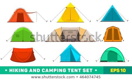 ao · ar · livre · infográficos · camping · caiaque · incomum · projeto - foto stock © blaskorizov