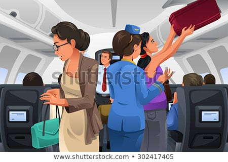 Passengers Lifting Their Carry-on Luggage  Stock photo © artisticco