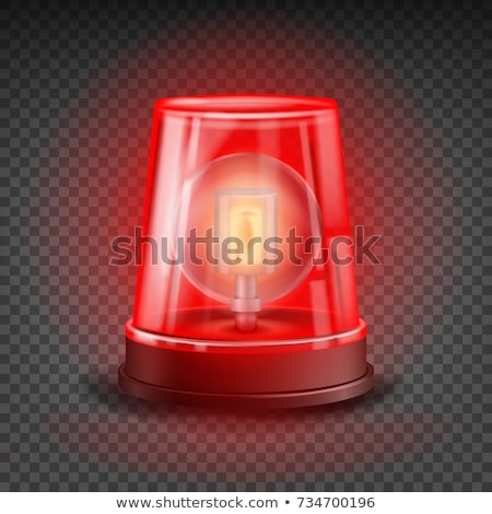 sirene red flasher on a white background stock photo © mcherevan