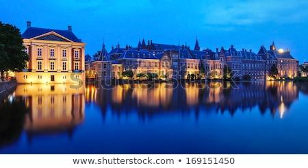 Paleis nederlands Nederland water stad skyline Stockfoto © vladacanon