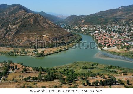 Río Georgia paisaje mar montana Foto stock © master1305