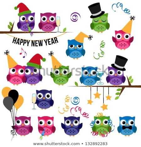 owls celebrate the new year stock photo © adrenalina