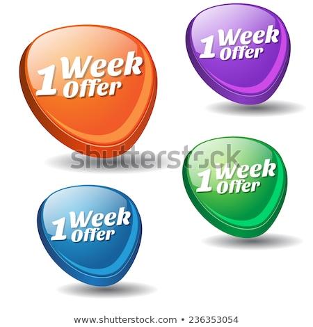 Hafta teklif yeşil vektör ikon düğme Stok fotoğraf © rizwanali3d