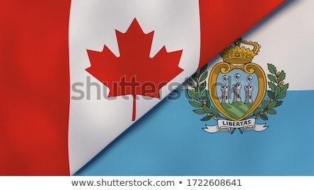 Canadá San Marino bandeiras quebra-cabeça isolado branco Foto stock © Istanbul2009