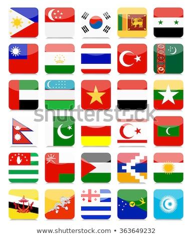 квадратный икона флаг Мальдивы тень знак Сток-фото © MikhailMishchenko