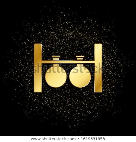 микроскоп вектора икона дизайна золото Сток-фото © rizwanali3d