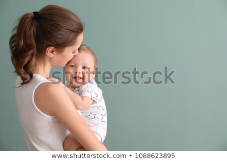 Foto stock: Baby With Space For Text