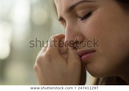 женщину · слез · глаза · несколько · подвесной - Сток-фото © stevanovicigor