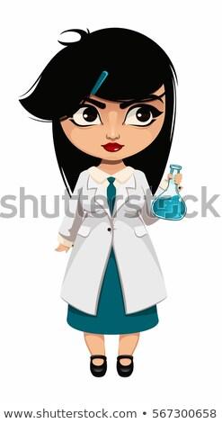 vector of female doctor holding test tubes stock photo © morphart