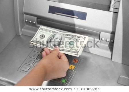 Mujer dinero atm ilustración negocios sonrisa Foto stock © adrenalina