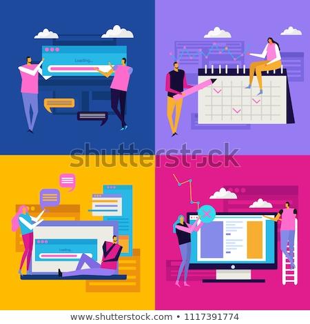 összetett kép üzlet interfész magasról fotózva kilátás Stock fotó © wavebreak_media