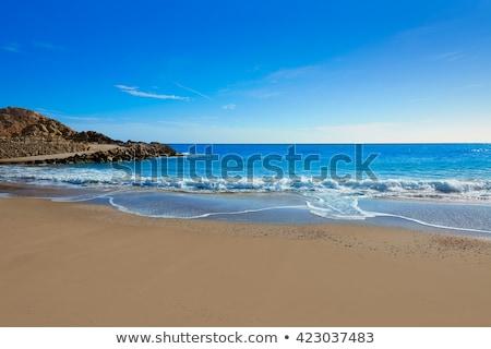 Lontano spiaggia Valencia Spagna cielo panorama Foto d'archivio © lunamarina