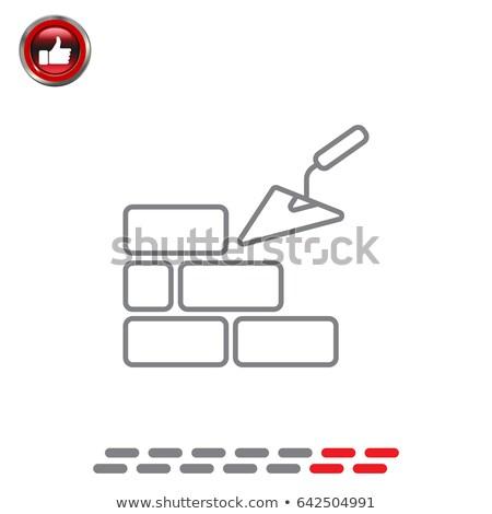 maison · solide · icône · web · affaires · internet - photo stock © angelp