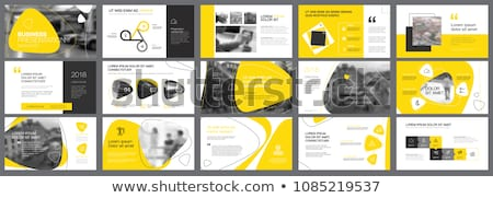 Yellow and black Annual report template vector illustration Stock photo © ganpanjanee