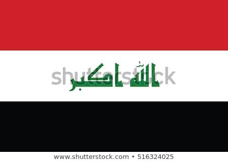 Pavillon Irak illustration blanche signe rouge Photo stock © Lom