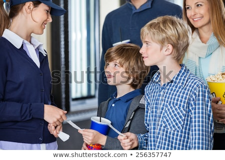Woman Ticket Taker Stock photo © piedmontphoto