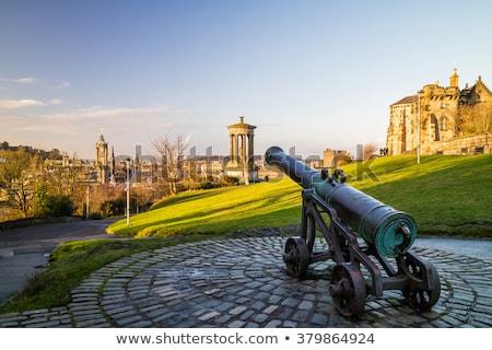 Cannon at Edinburgh castle Stock photo © dutourdumonde