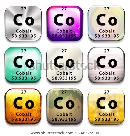 a button showing the chemical element cobalt stock photo © bluering