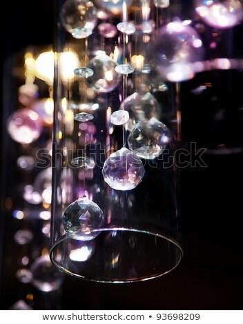 Szkło i oświetlenie Ciemny pulpit Zdjęcia stock © Gromovataya