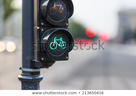 car and bycicle semaphore on a traffic light stock photo © vladacanon