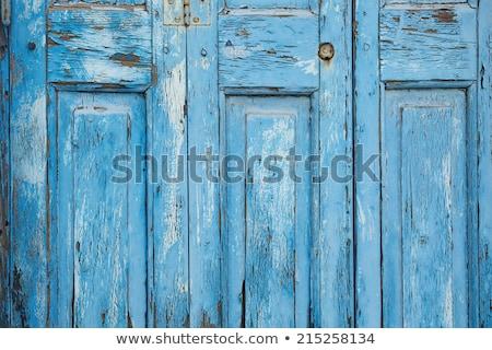 素朴な 青 塗料 ピール オフ ストックフォト © stevanovicigor