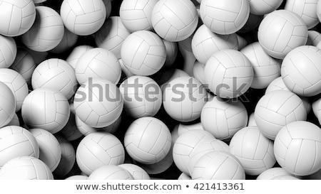 Közelkép röplabda labda sport fitnessz játék Stock fotó © dolgachov