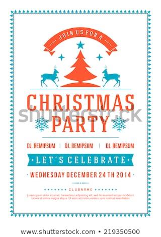 merry christmas party invitation template eps 10 stock photo © beholdereye