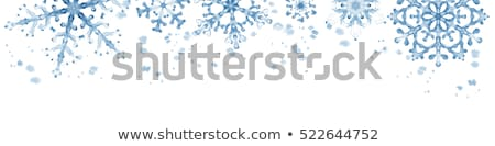 Winter Watercolour Snowflakes Stock photo © solarseven