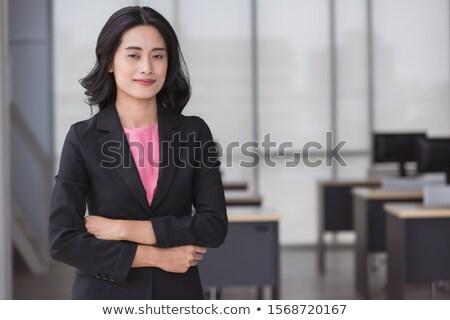 Boldog fiatal menedzser portré jóképű mosolyog Stock fotó © filipw