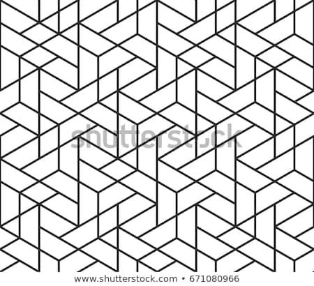 ベクトル シームレス 黒白 グリッド 幾何学模様 ストックフォト © CreatorsClub