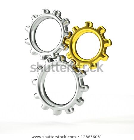 klasszikus · szett · ezüst · arany · fém · retro - stock fotó © tracer