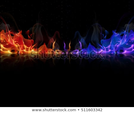 赤 青 炎 描いた ガス 難 ストックフォト © blackmoon979