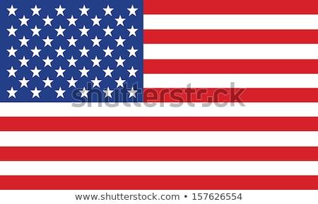 Gwiazdki banderą amerykańską flagę biały niebieski Zdjęcia stock © Bigalbaloo