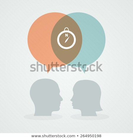 Woman head with compass icon for orientation Stock photo © adrian_n