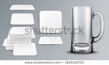 Empty drinking glass cup on grey background Stock photo © Natali_Brill