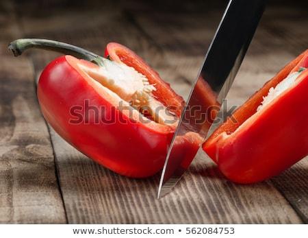 два кухне Ножи красный Сток-фото © Digifoodstock